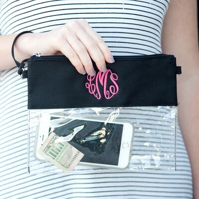Black Clear Zip Pouch