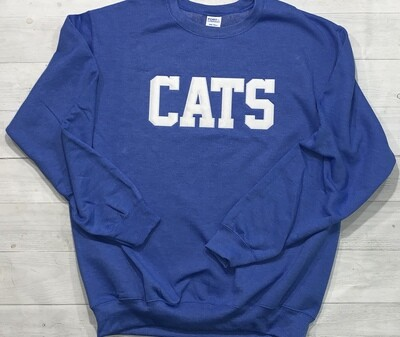 CATS Applique Crewneck Sweatshirt (Choose shirt color and fabric)