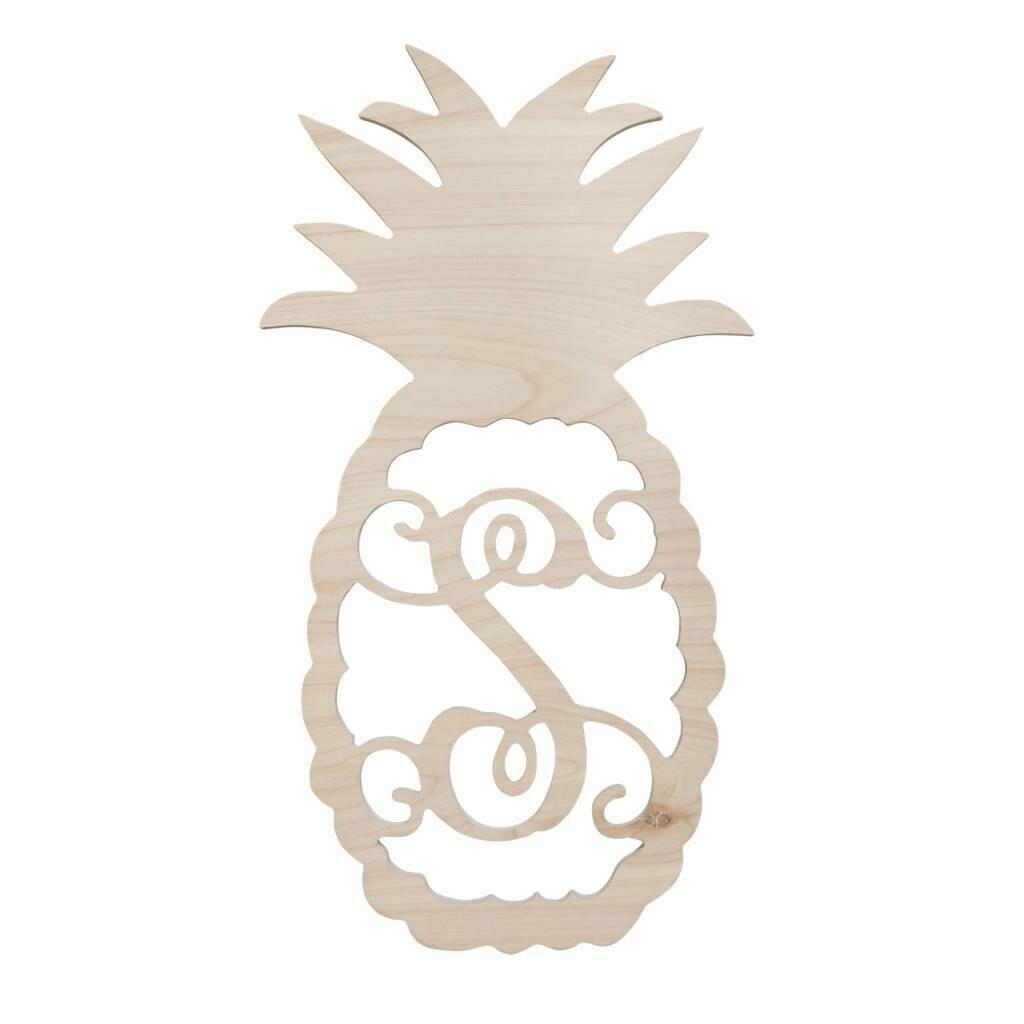 Pineapple Wood Monogram