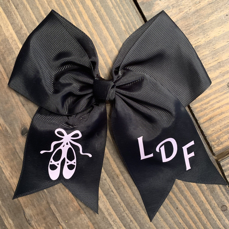 LDF Ballet Slippers Hair Bow - Black