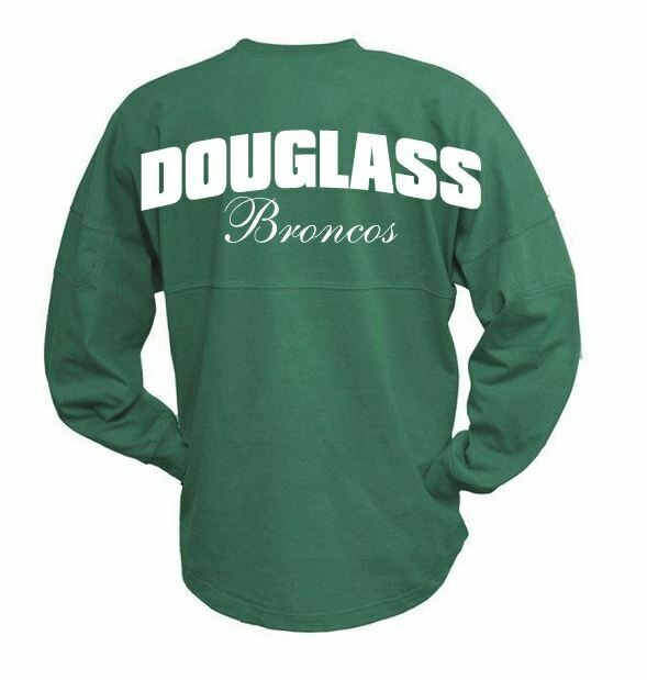 Douglass Broncos Spirit Jersey - 4 Color Options (Youth and Adult Unisex Sizing)