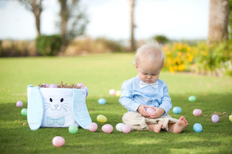 Hippity Hoppity Blue Easter Bucket