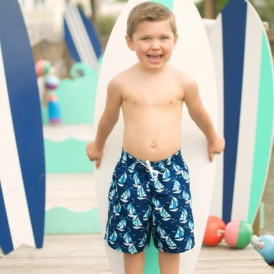 Sea Breeze Boys Swim Trunks