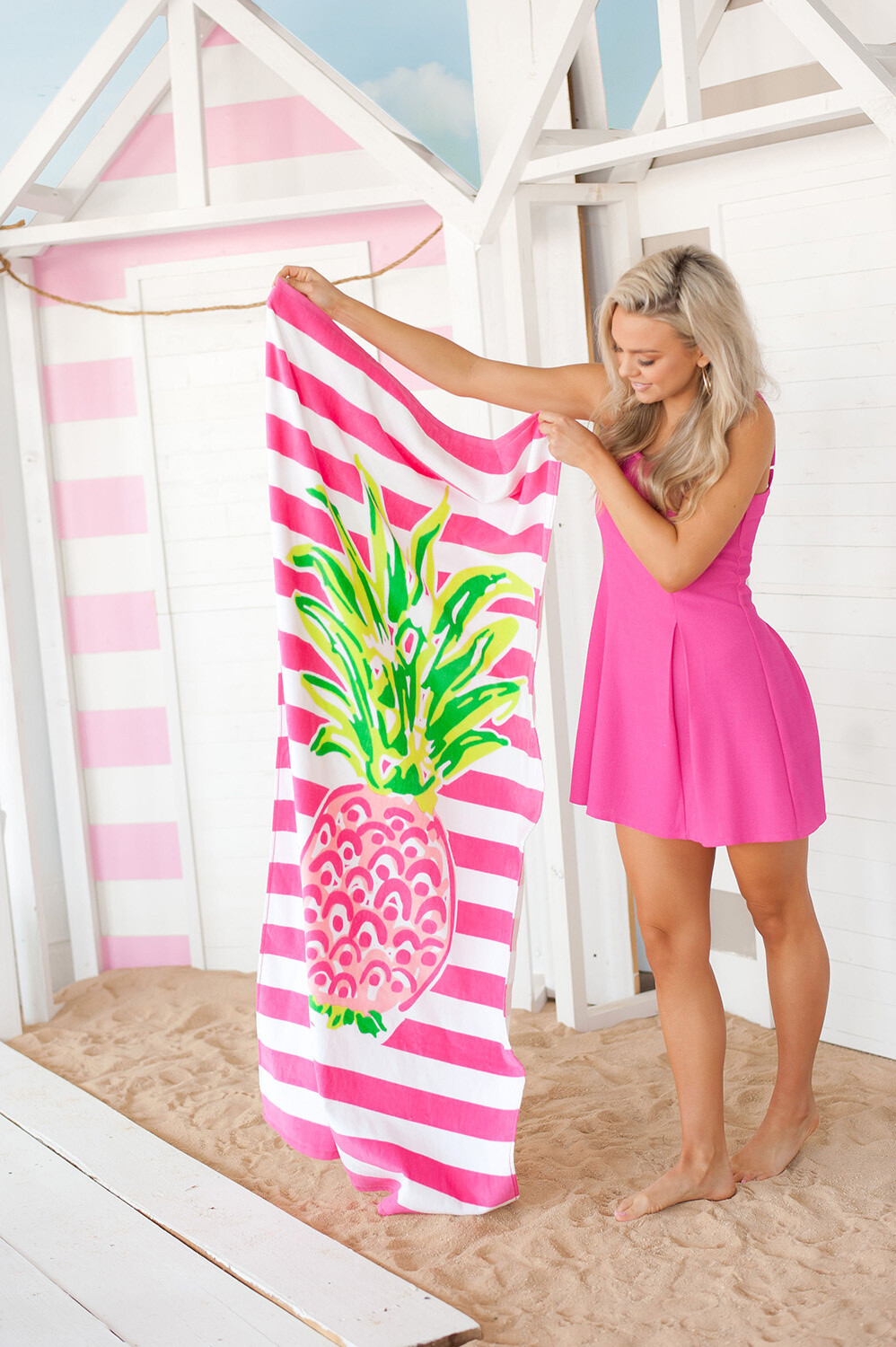 Pineapple Stripe Towel