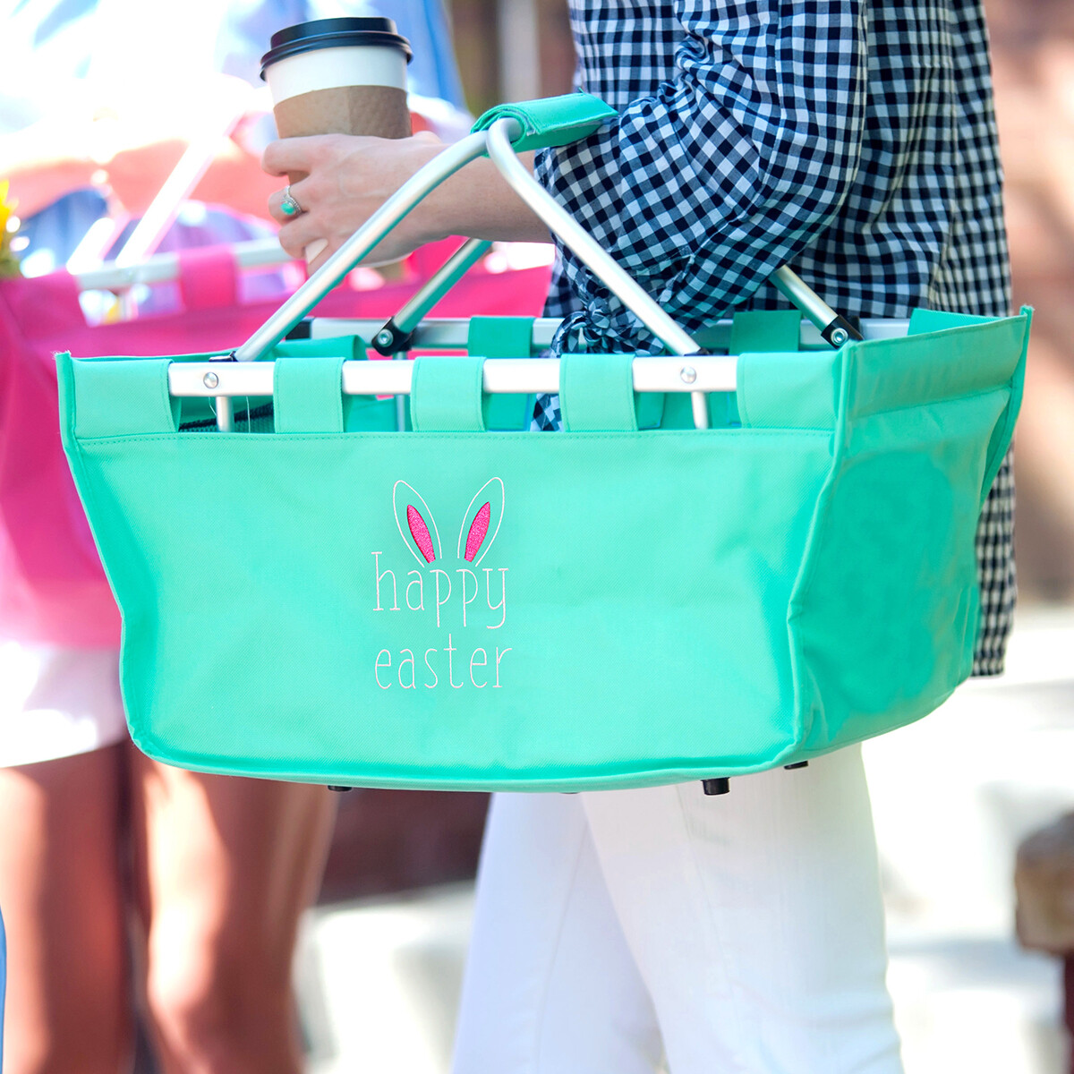 Happy Easter Mint Market Tote