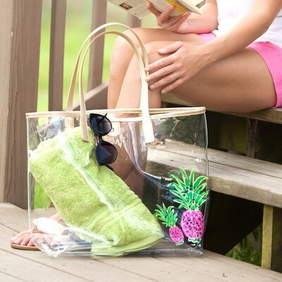 Pineapple Retreat Clear Tote