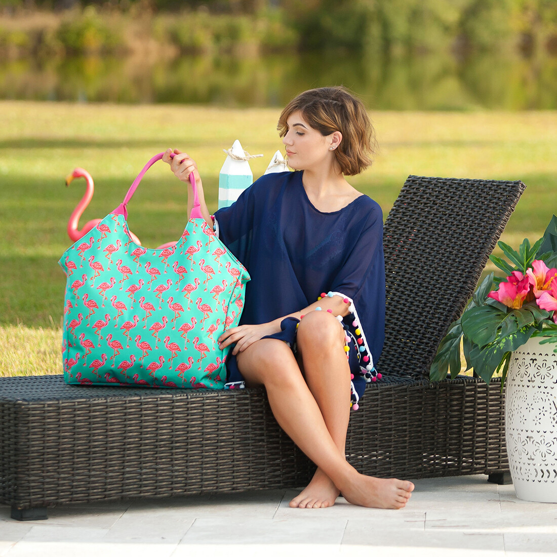 Tickled Pink Beach Bag