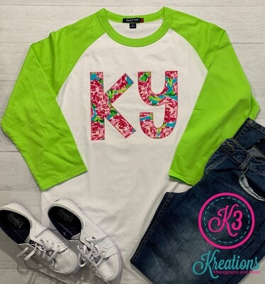 Adult Rosey Lilly-Inspired Raglan Jersey Tee