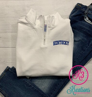 Kentucky Quarter Zip Sweatshirt