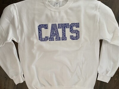 CATS White Crewneck Sweatshirt