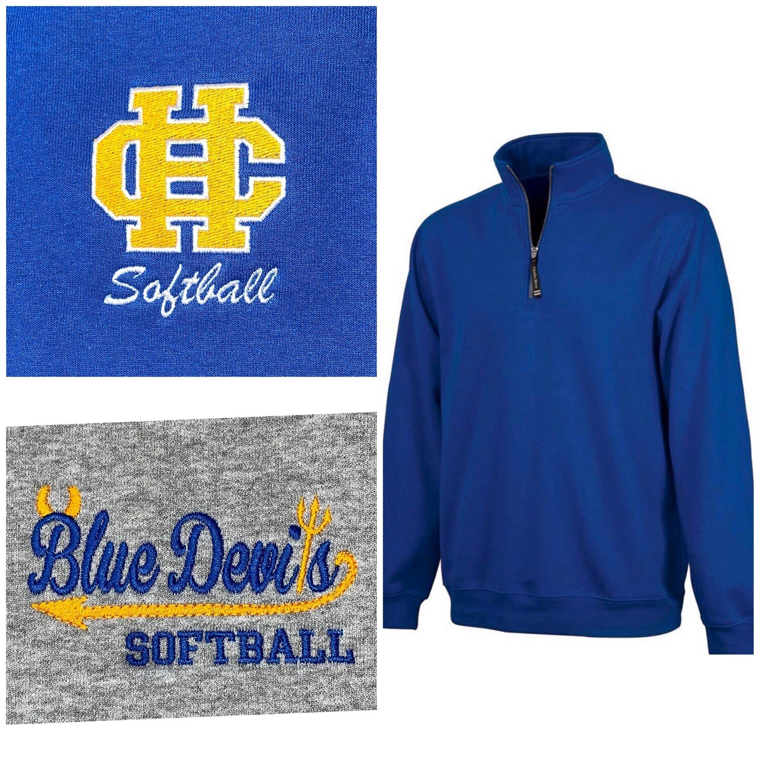 Charles River Crosswind Pullover with your choice of HC Logo