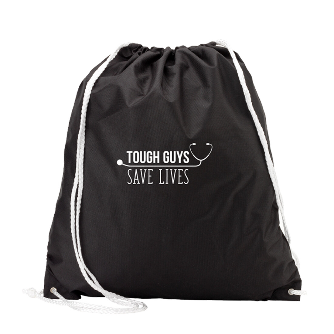 Tough Guys Save Lives Black Gym Bag