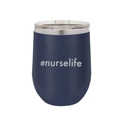 #nurselife Navy Tumbler