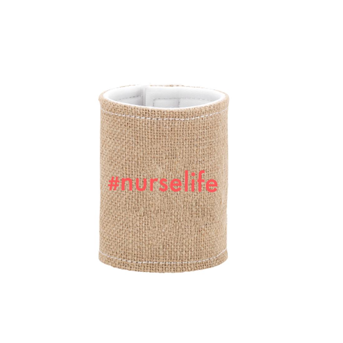 #nurselife Burlap Drink Wrap