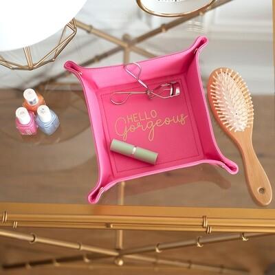 Hot Pink Hello Gorgeous Trinket Tray