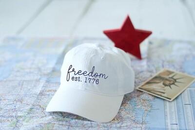 Freedom White Cap