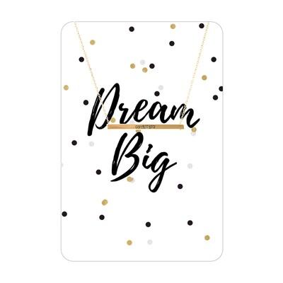 Gold Dream Big Bar Necklace Card