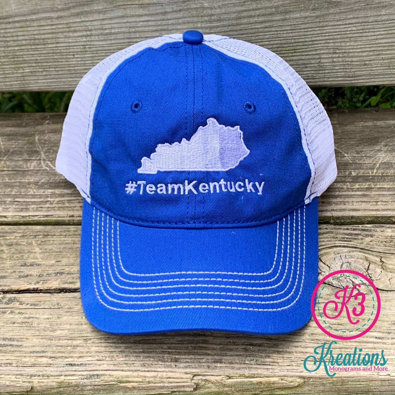 #TeamKentucky State Mesh Back Hat