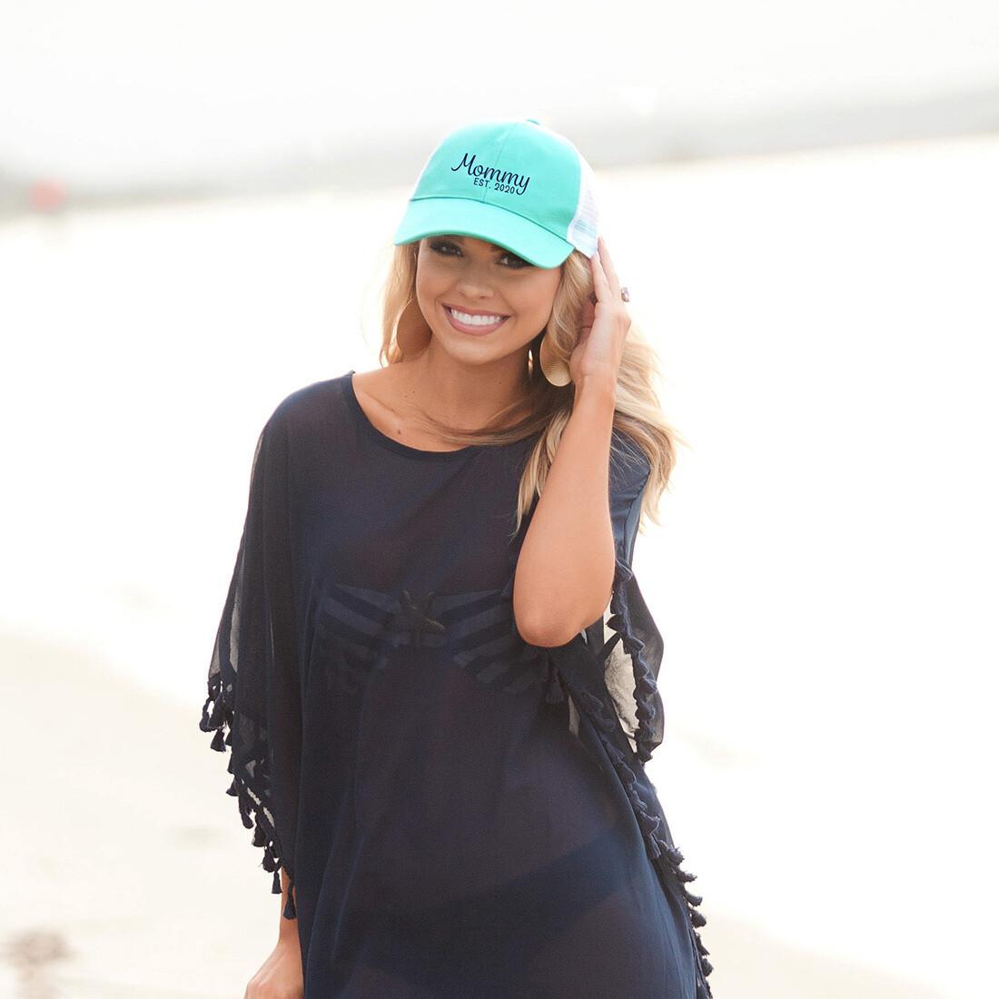 Mommy 2020 Mint Trucker Hat
