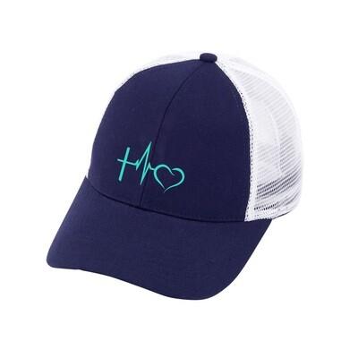 Faith Love Navy Trucker Hat