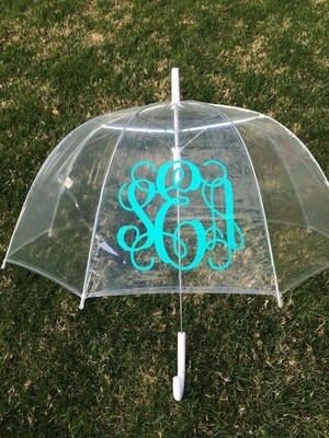 Clear Dome Monogrammed Umbrella