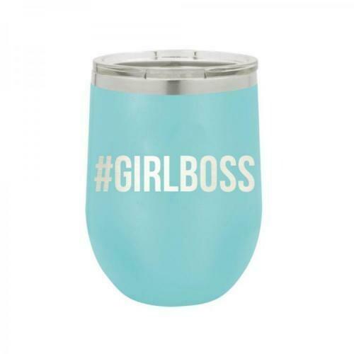 Teal Girl Boss Monogram Tumbler