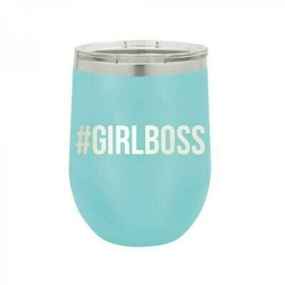 Teal Girl Boss Monogram Tumbler