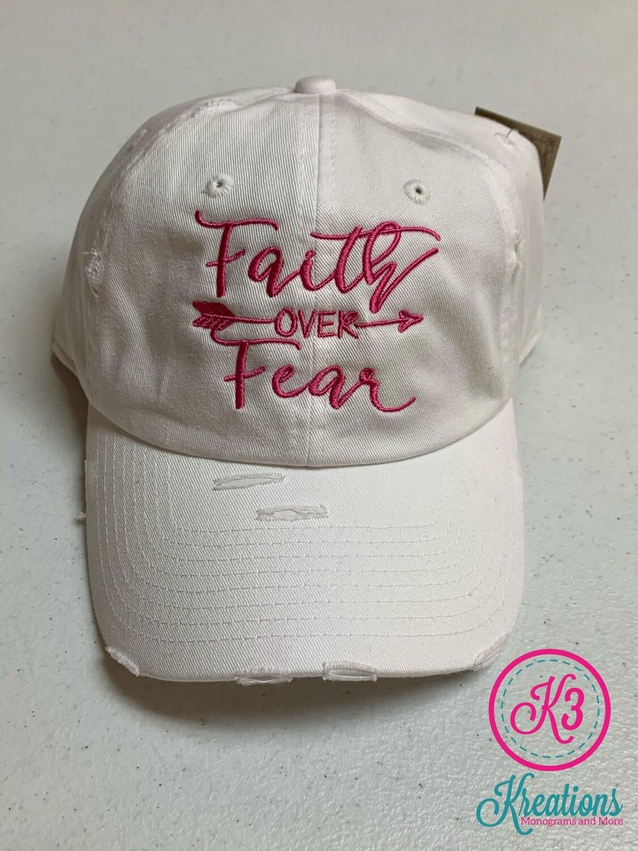 Faith Over Fear Distressed Cap