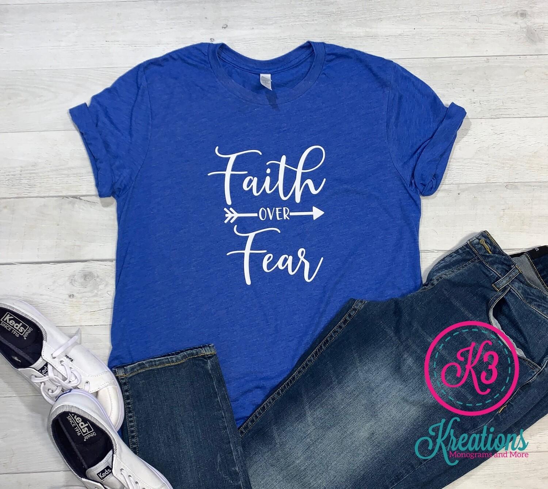 Faith Over Fear Tri-Blend Short Sleeve Tee