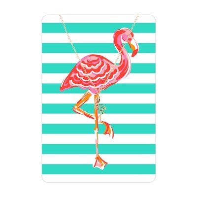 Flamingo Necklace Card