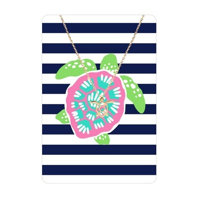 Turtle Necklace Card