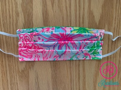 Paradise Lilly Print Cotton Fabric Face Mask
