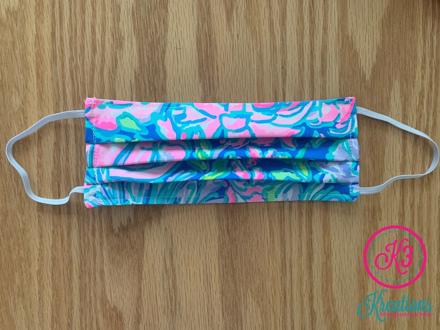 Full Bloom Lilly Print Cotton Fabric Face Mask