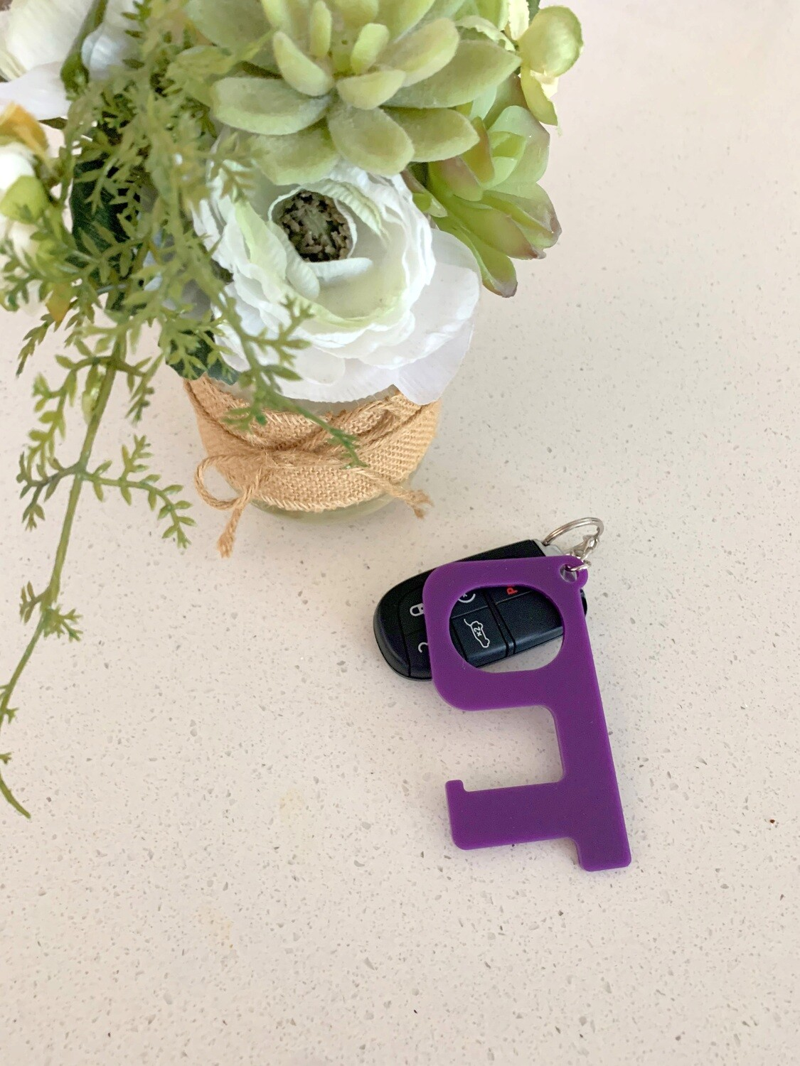 Purple Hands-Free Keychain