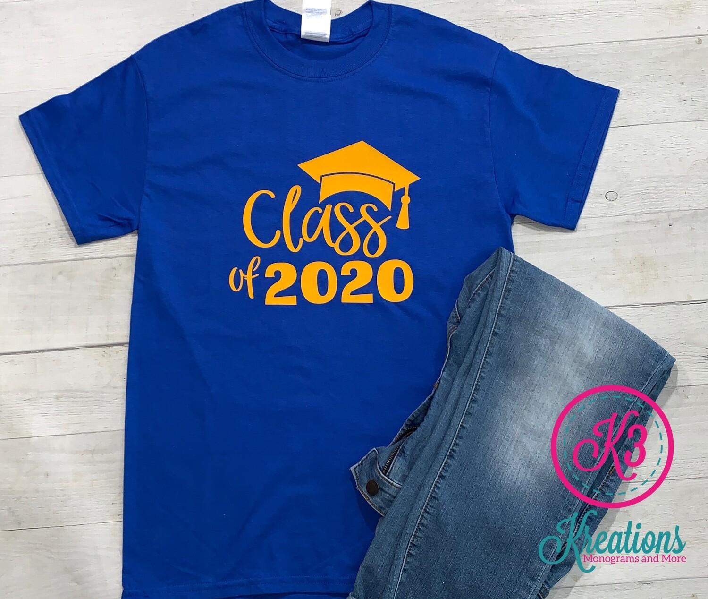 Class of 2020 Short Sleeve Jersey Tee
