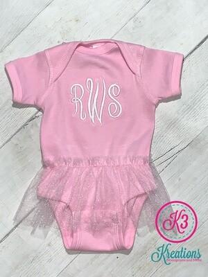 Infant Tutu Baby Rib Bodysuit