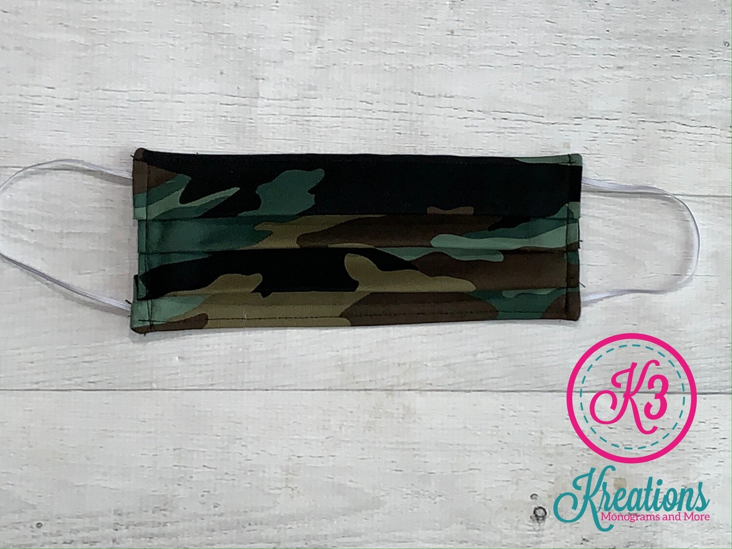Camouflage Cotton Fabric Face Mask
