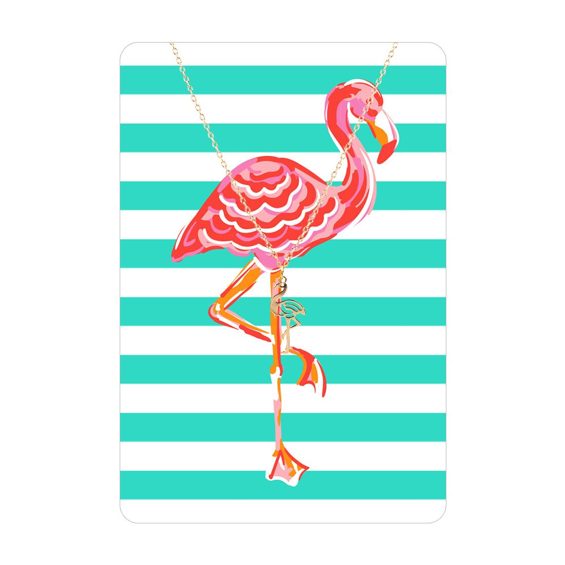 Flamingo Necklace Card