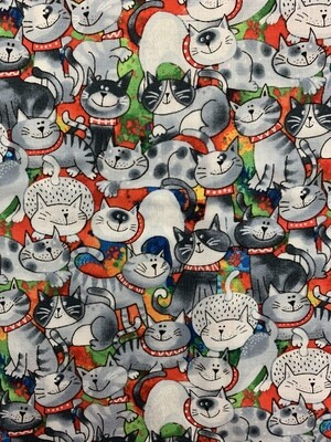 Cat Lover Cotton Fabric Face Mask