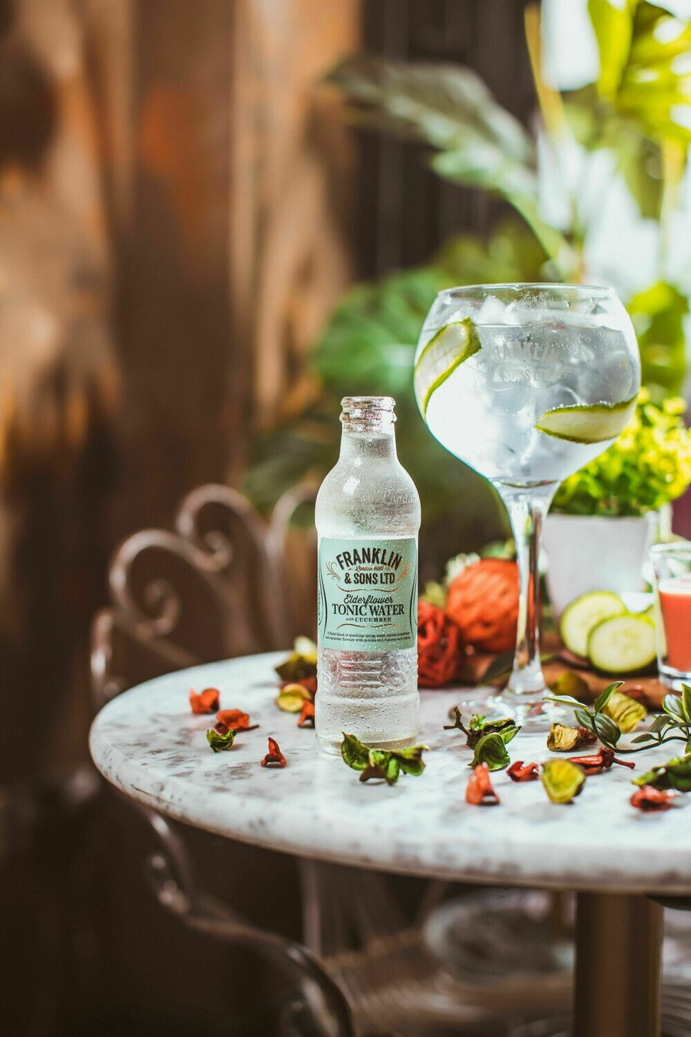 Franklin & Sons Elderflower with Cucumber Tonic (Pack of 4)