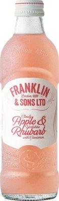 Franklin & Sons Cloudy Apple & Yorkshire Rhubarb with Cinnamon  (275ML x 12)