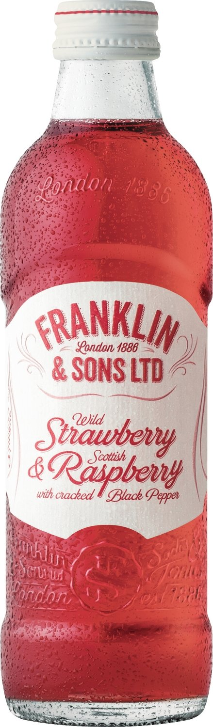 Franklin & Sons Wild mixed Fruit Strawberry & Scottish Raspberry with Cracked Black Pepper (275ML x 12)