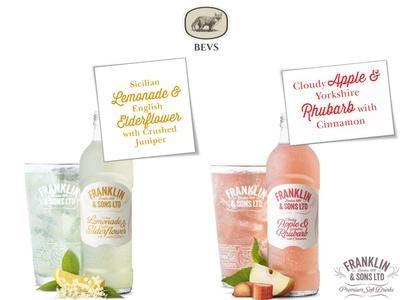 Franklin & Sons Apple and Rhubarb, Lemonade and Elderflower (275ML X 12)