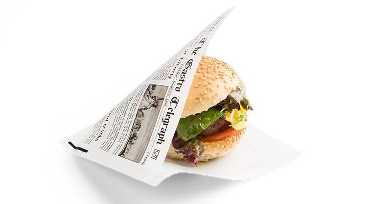 """Vetvrij papieren zakje """"Krant"""" 170x170mm, 3600stuks"""
