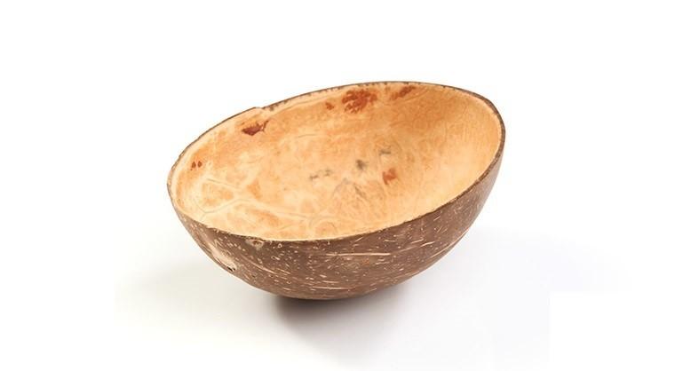 Kokosnoot kom ovaal. 110/150x60/90mm, verpakt per 10 stuks