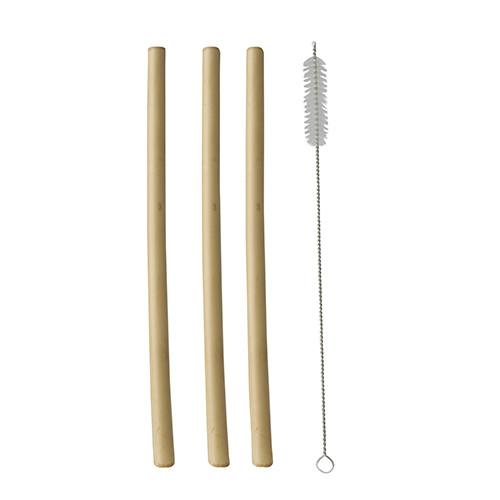 "Bamboe rietjes ""Pure"" per 12 stuks verpakt"