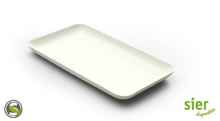 Bagastro bord rechthoekig 20x12cm, 480 stuks