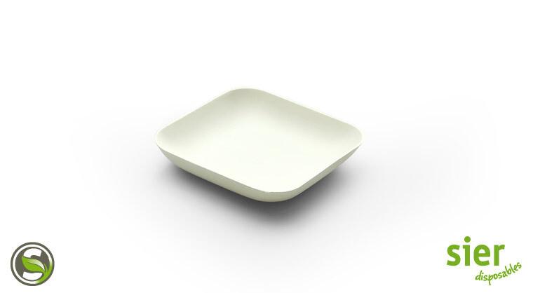 Bagastro bord vierkant 8cm, 480 stuks