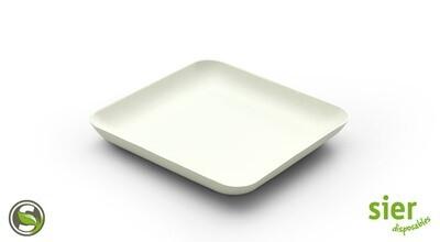 Bagastro bord vierkant 12cm, 40 stuks