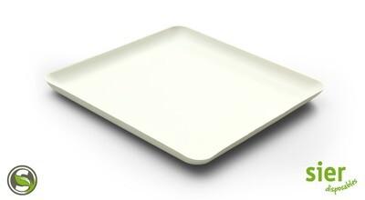 Bagastro bord vierkant 20cm, 40 stuks
